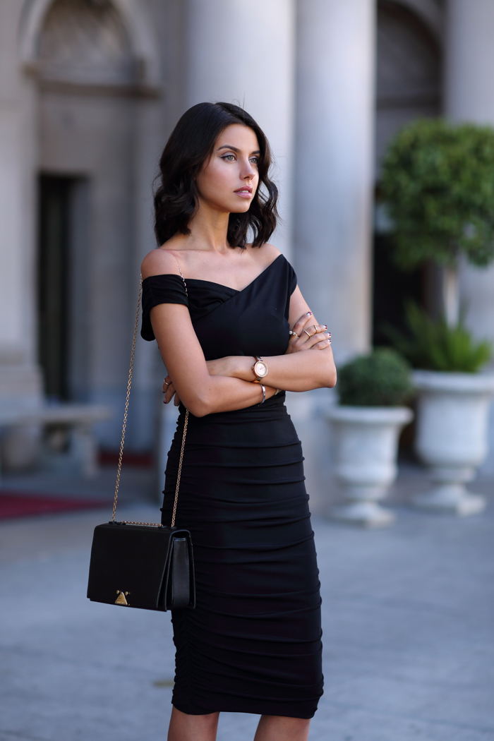 Funeral dress in black